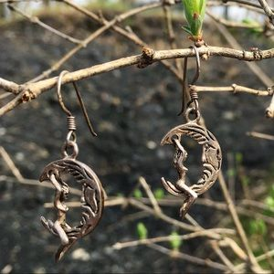 Jewelry - Sterling Silver Naked Moon Rider Earrings
